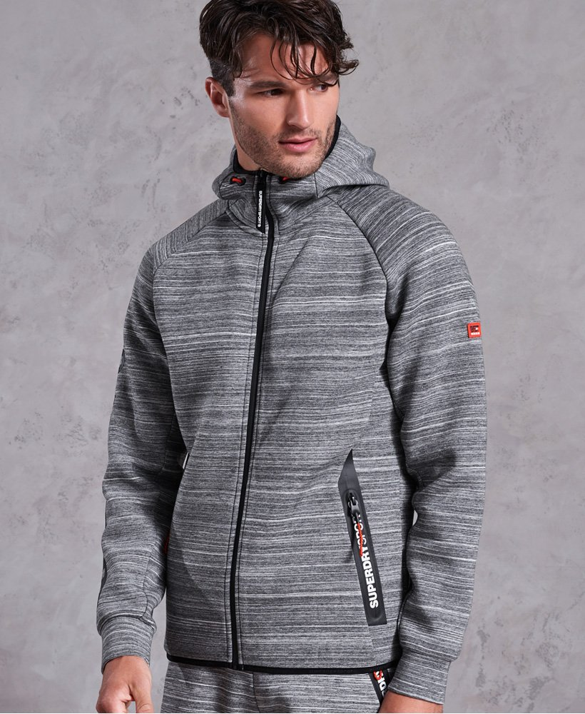 Superdry Felpa con zip e cappuccio Gym Tech Stretch