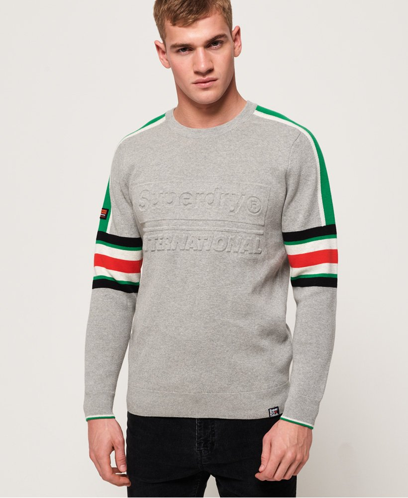 Superdry Track Embossed Crew Neck Jumper thumbnail 1