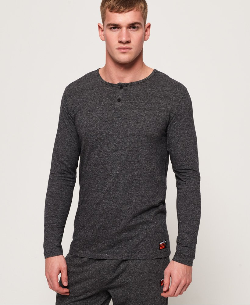 Superdry SD Laundry Organic Cotton Grandad Top thumbnail 1