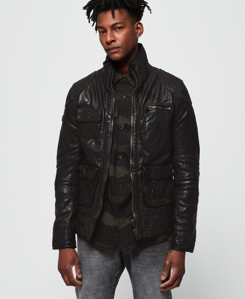Superdry Tarpit Leather Jacket  thumbnail 1
