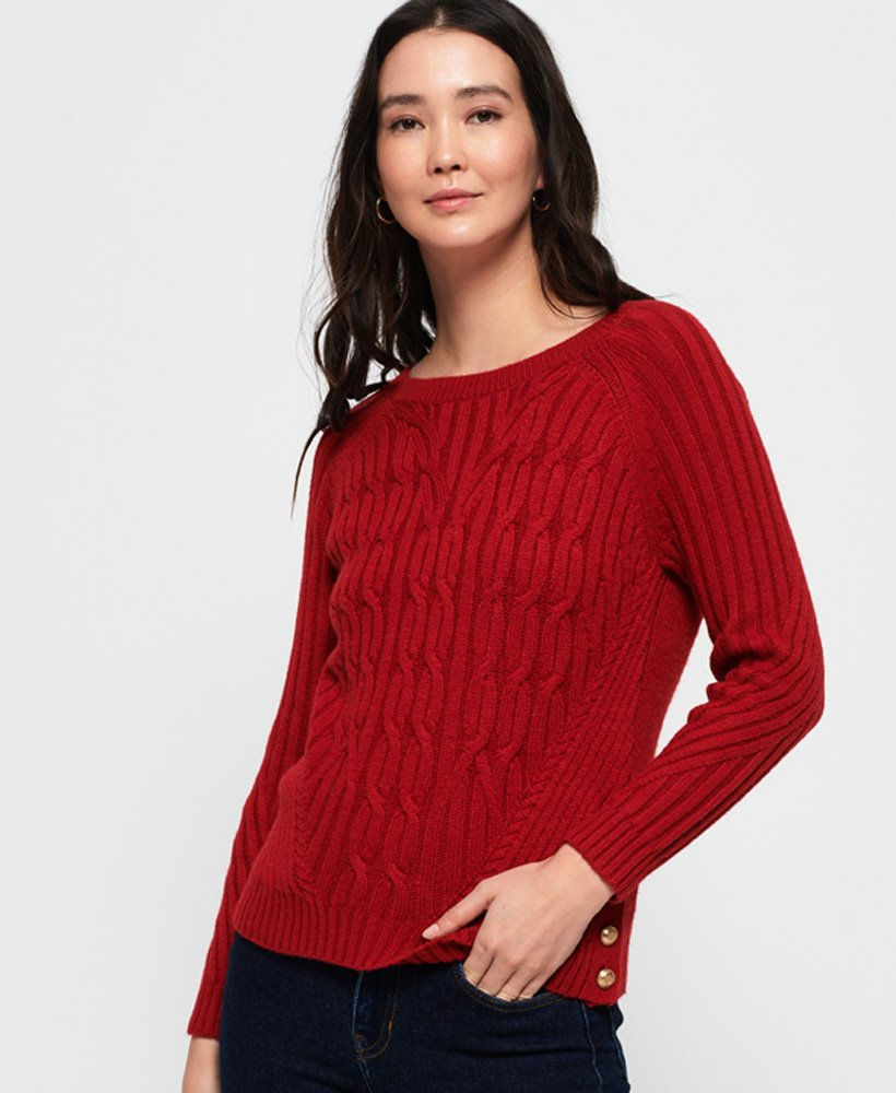 Superdry Hester Cable Knit Jumper thumbnail 1