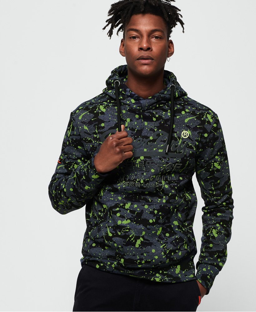 Superdry Premium Goods All Over Print Camo Hoodie thumbnail 1