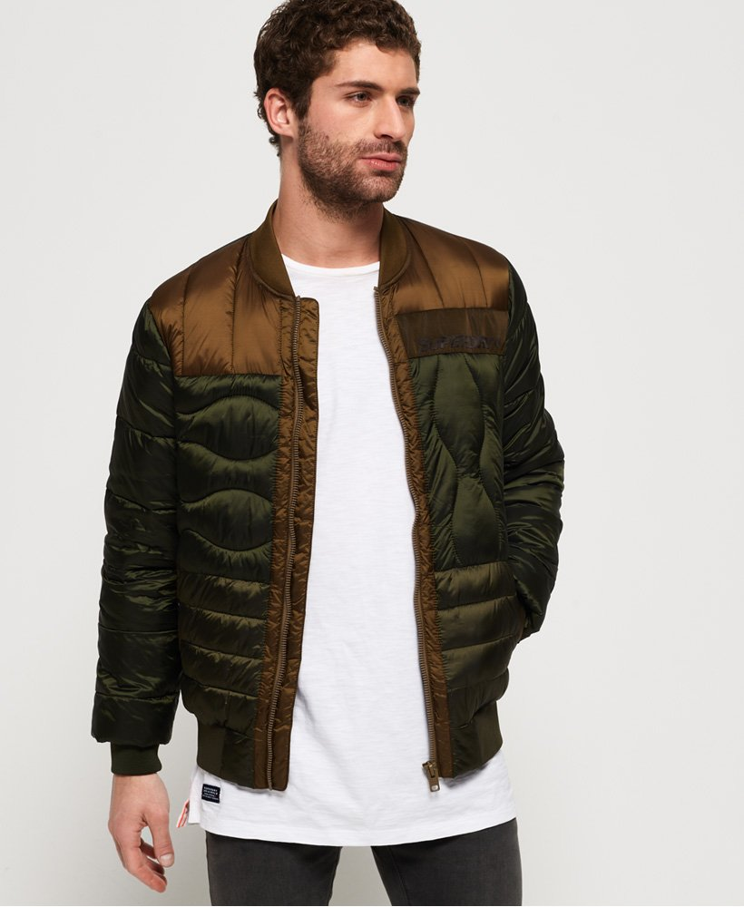Superdry Convex Mixed Quilt Bomber Jacket thumbnail 1