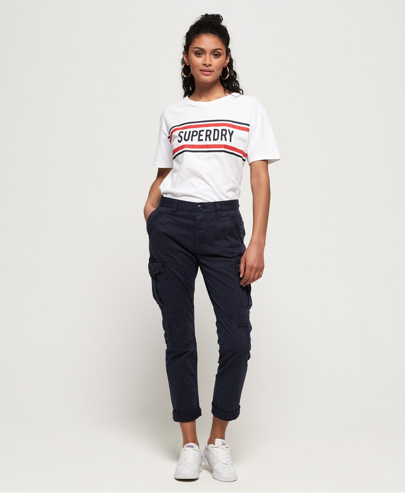 Superdry Pantalon Cargo Girlfriend thumbnail 1