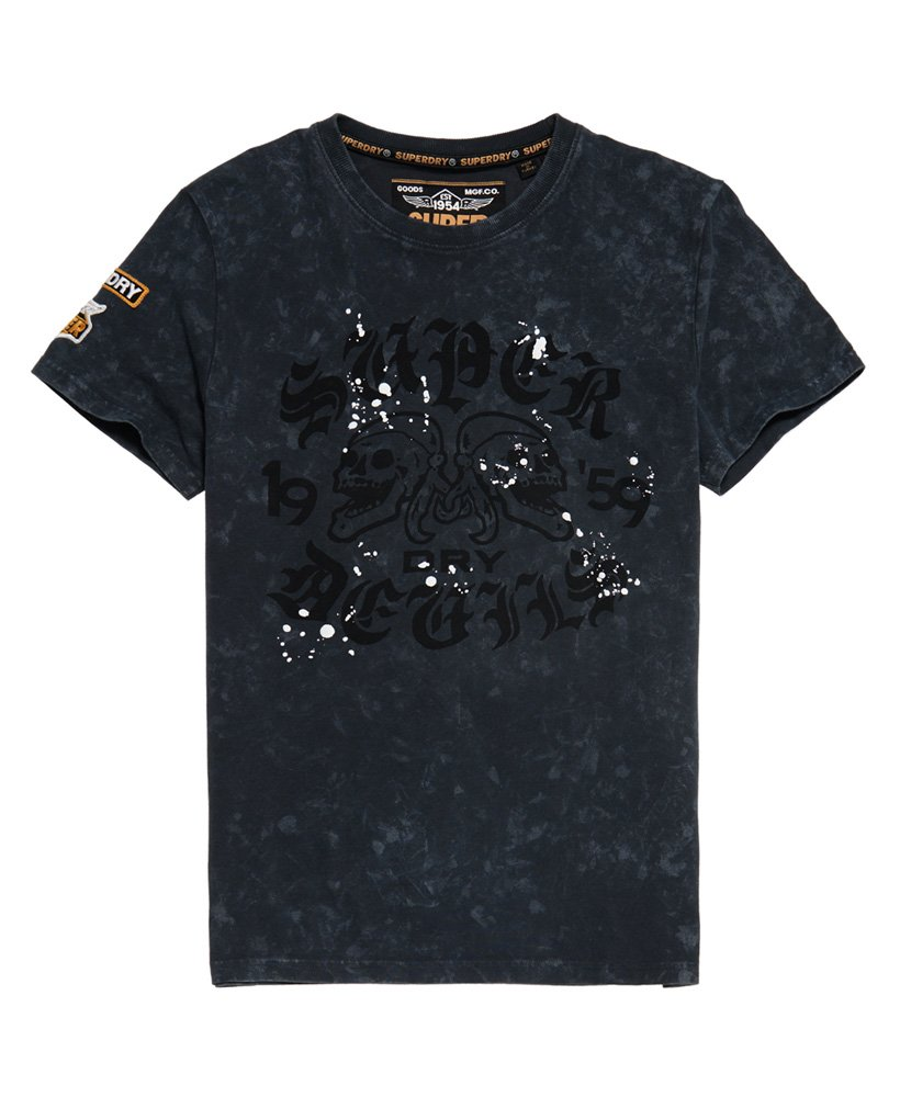 Superdry T-shirt Black Letter