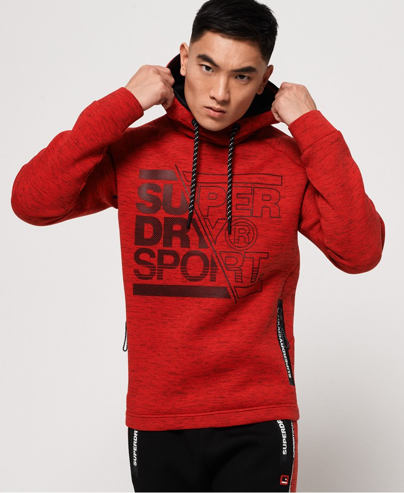 Superdry Gym Tech Stretch Graphic Overhead hoodie thumbnail 1