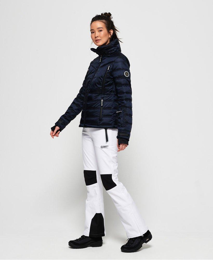 Superdry Womens Slim Chevron Funnel Warm Puffer Ski Coat