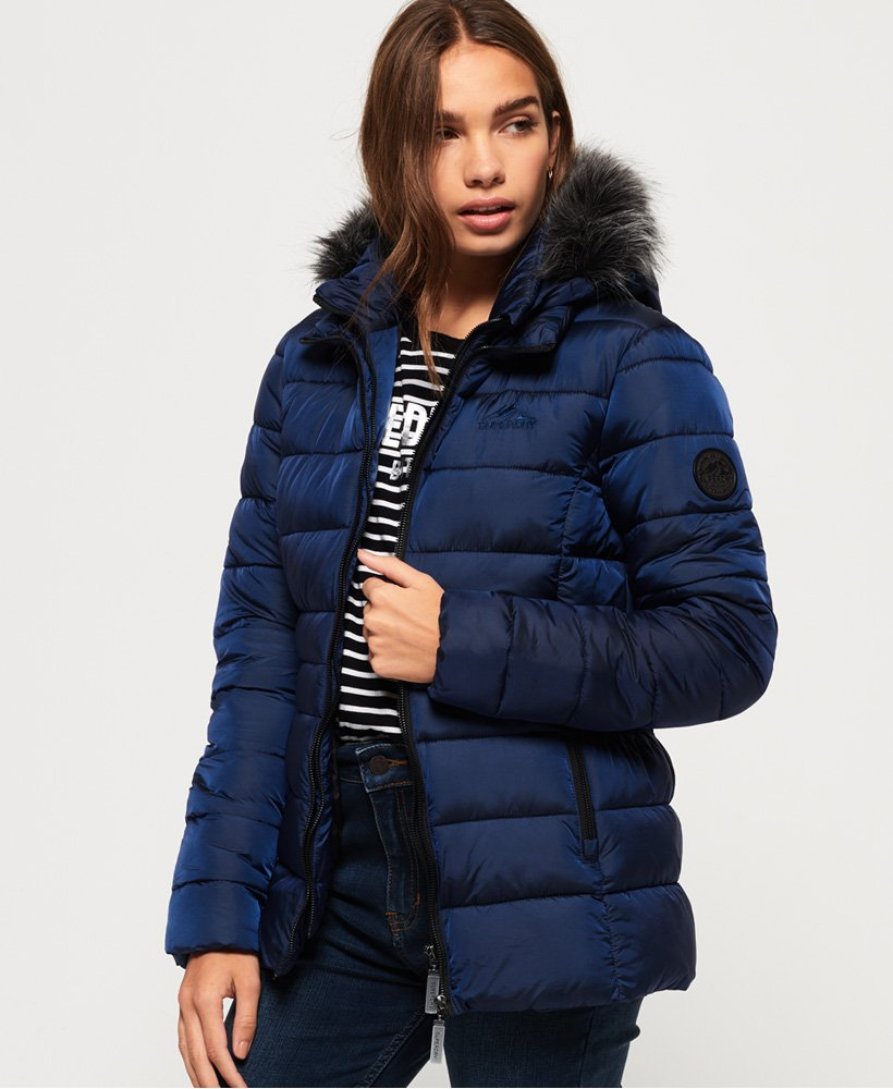 Superdry Taiko Padded Faux Fur Jacket thumbnail 1