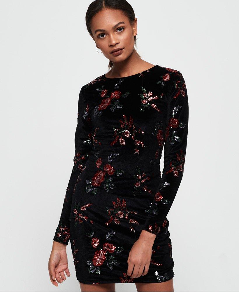 Superdry Melrose Sequin Velvet Dress