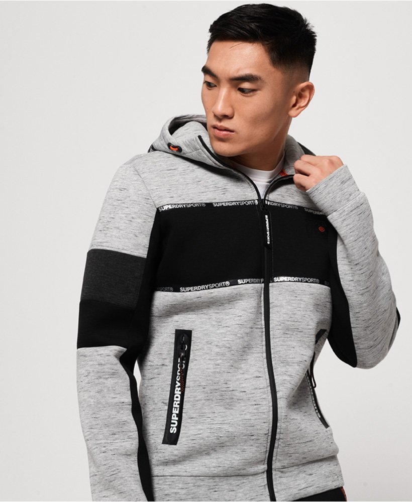 Superdry Gym Tech Block Stretch-Kapuzenjacke thumbnail 1