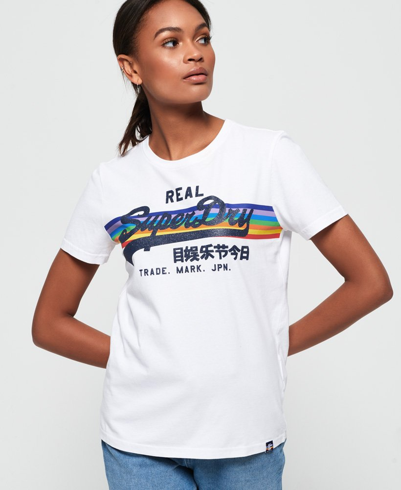 Superdry Vintage Logo Retro Rainbow T-shirt