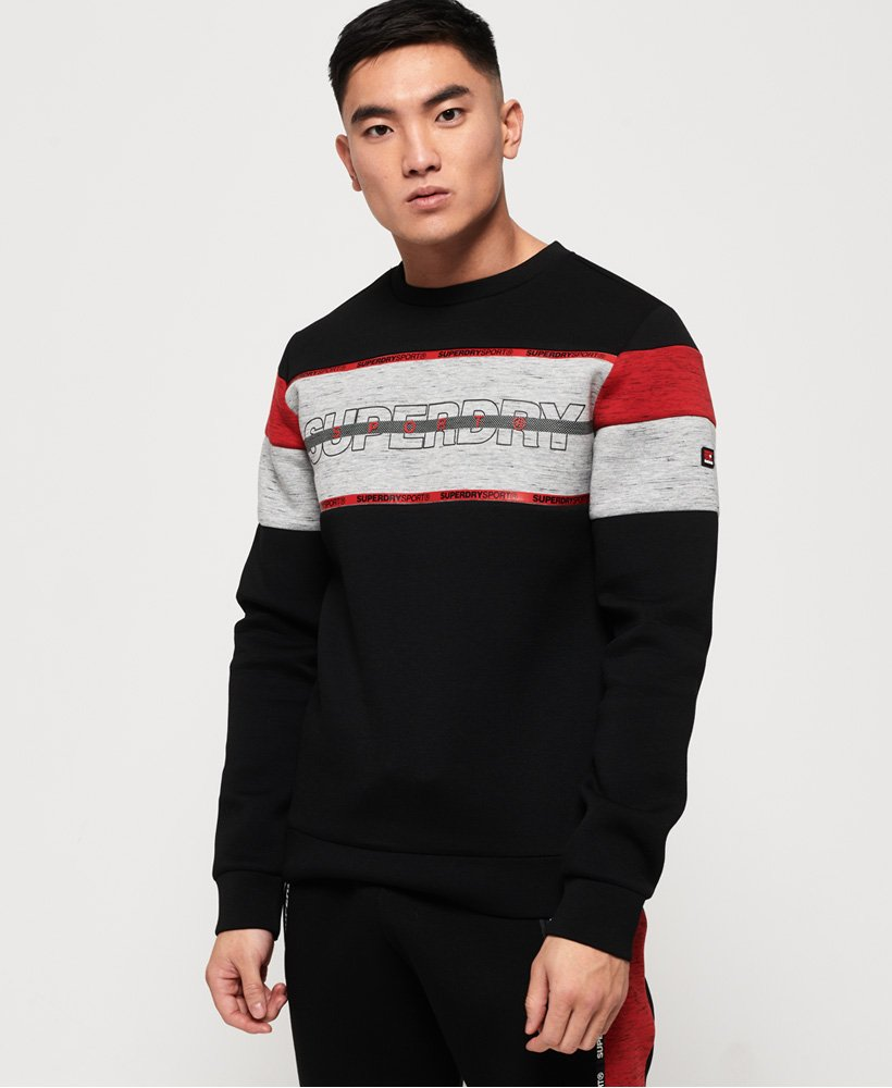 Superdry Gym Tech Cut Crew Sweatshirt thumbnail 1