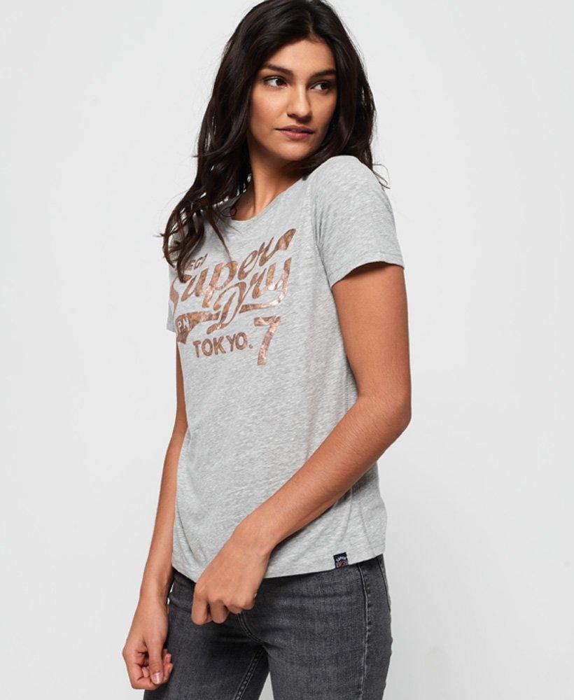 Superdry Tokyo 7 T-shirt med tekstureret folietryk