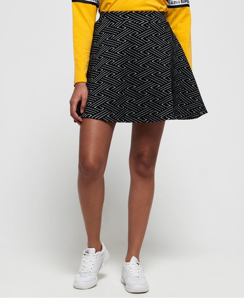Superdry Riley Textured Skater Skirt thumbnail 1
