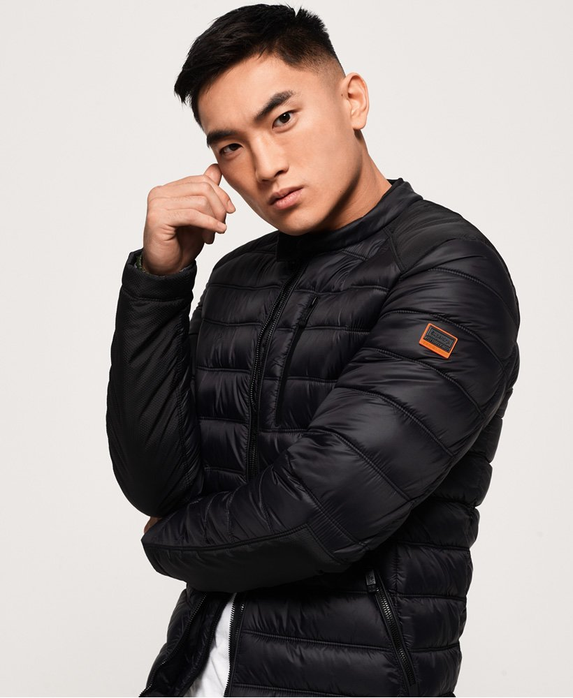 Superdry Commuter Quilted Biker Jacket  thumbnail 1