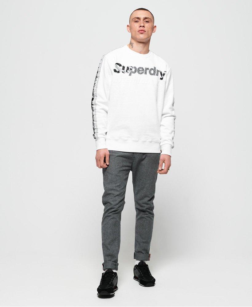 SUPERDRY Men International Monochrome Oversized Hood Sweatshirt Optic White