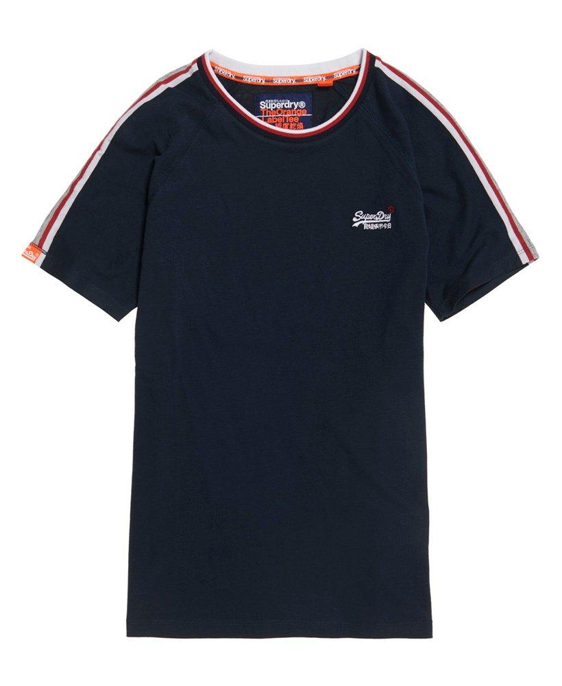 Superdry Orange Label Tipped Sports gestreept T-shirt