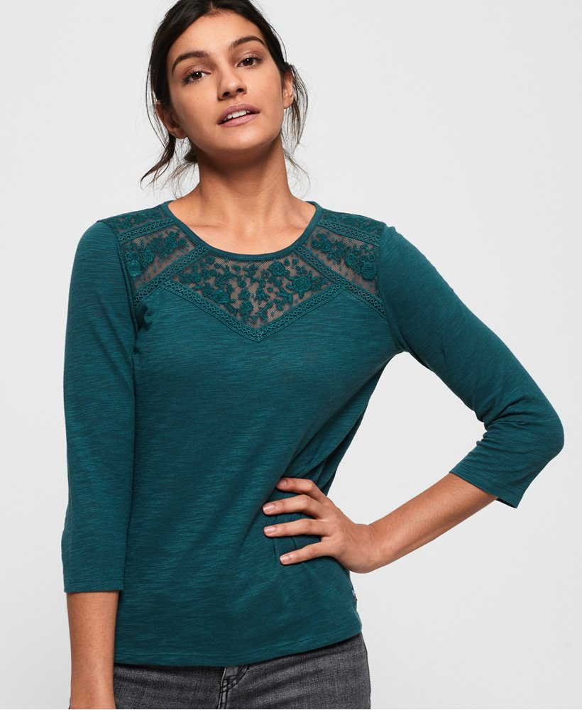 Superdry Whitney Embroidered Long Sleeve Top thumbnail 1