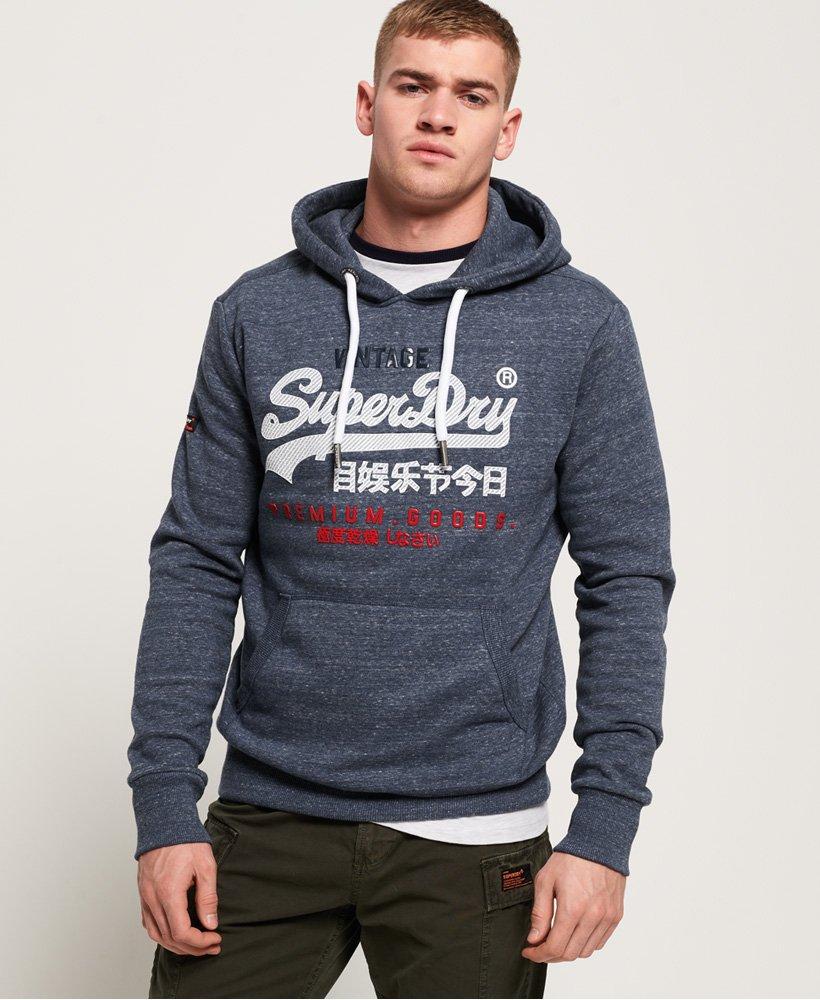 Superdry Sweat à capuche molletonné à logo tricolore Premium Goods