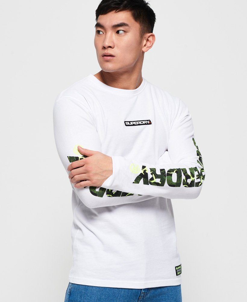 Superdry Trophy Camo Long Sleeve T-Shirt  thumbnail 1
