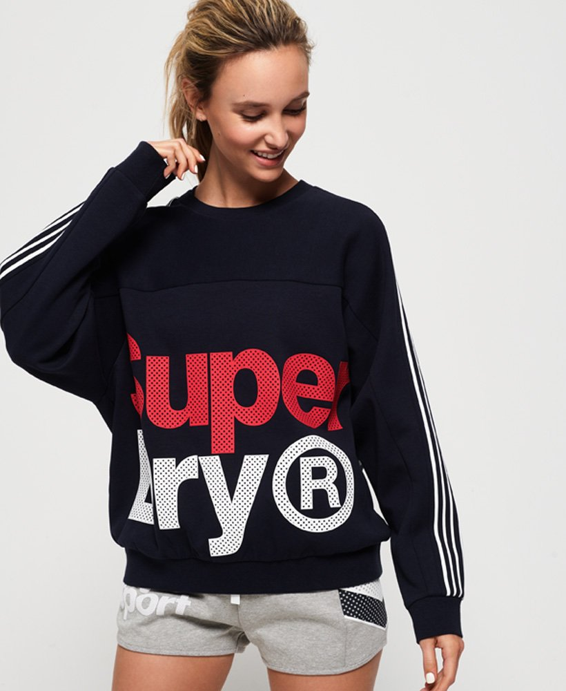 Superdry Athletico Crop Crew Sweatshirt thumbnail 1