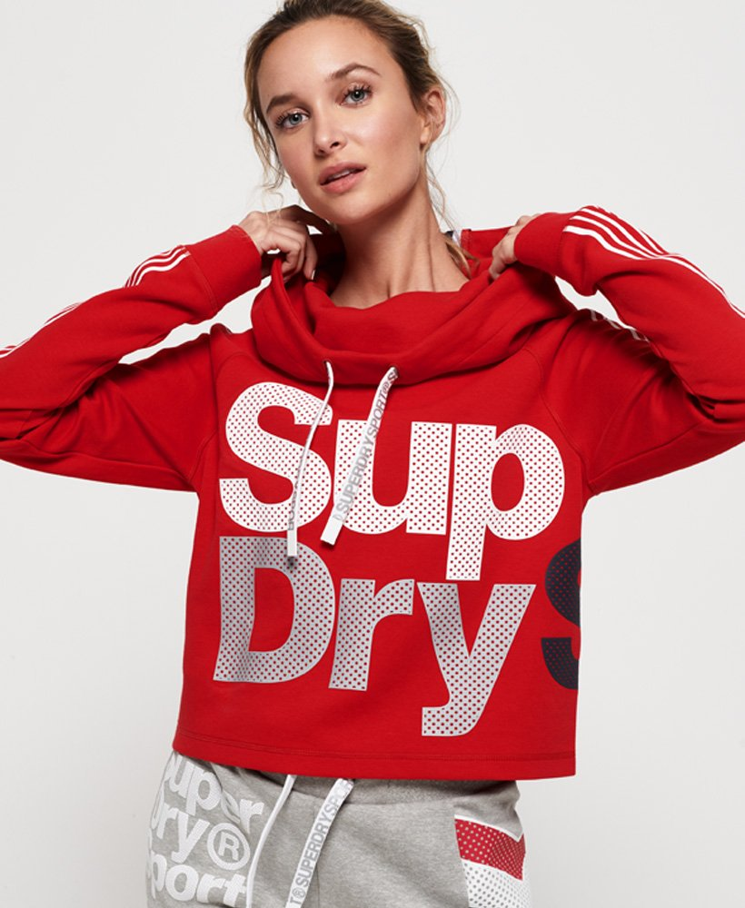 Superdry Athletico Crop Hoodie thumbnail 1