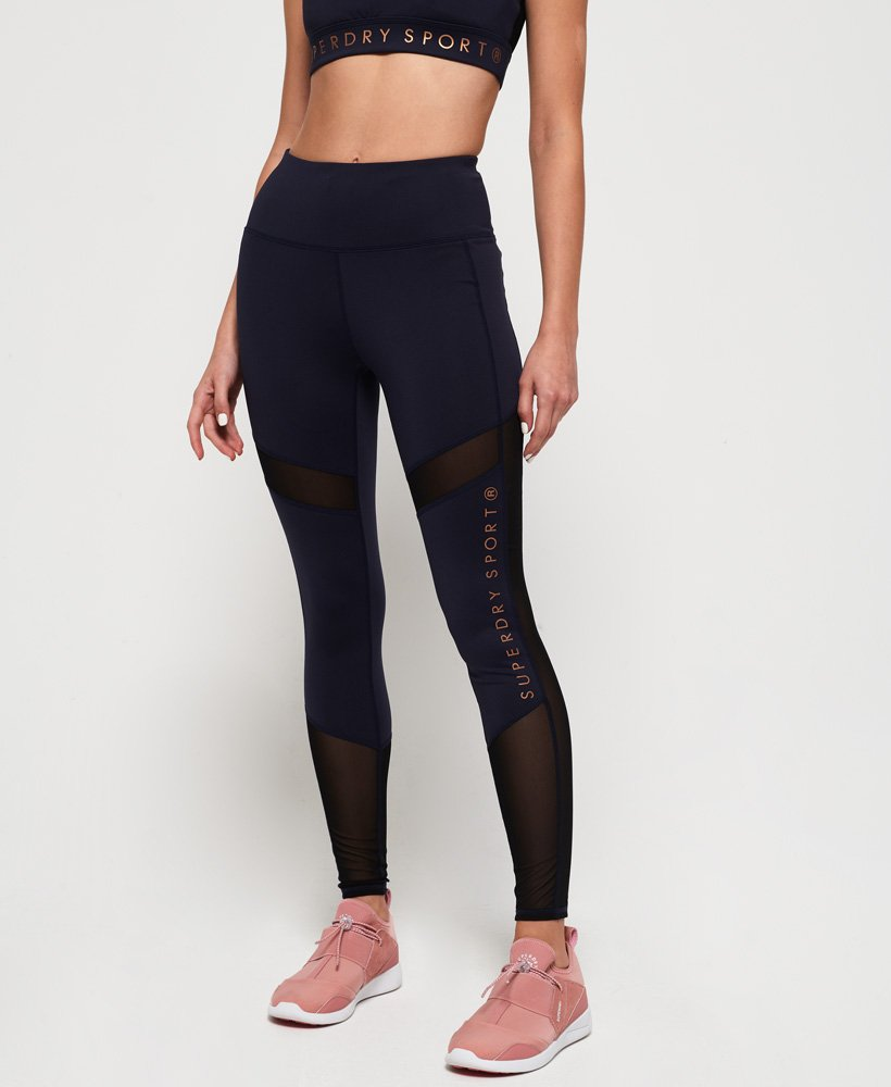 Superdry Active Studio Mesh-leggingser thumbnail 1