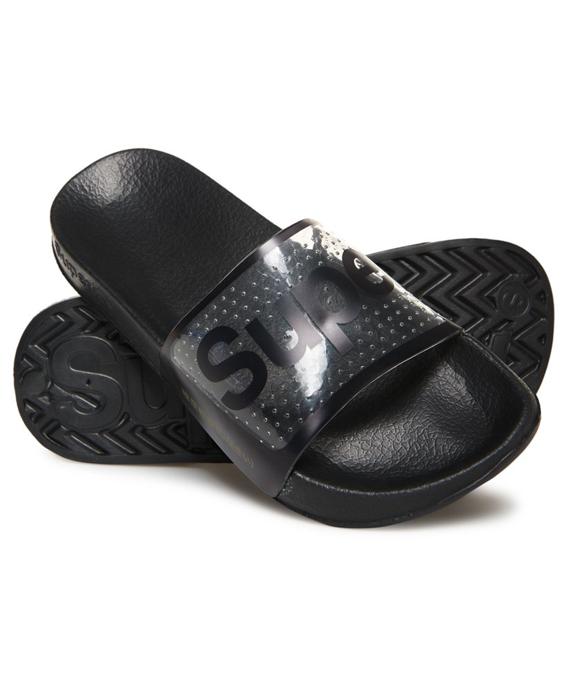 Superdry Perforated Jelly Pool Sliders thumbnail 1