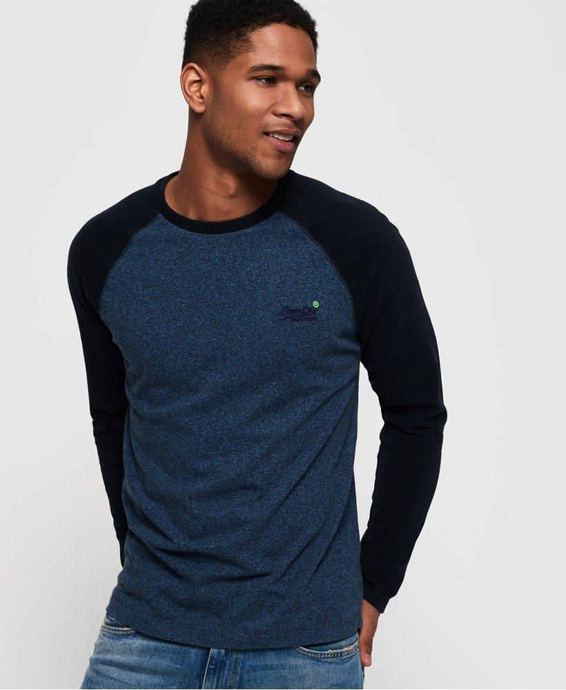Superdry Orange Label Baseball Long Sleeve T-Shirt  thumbnail 1