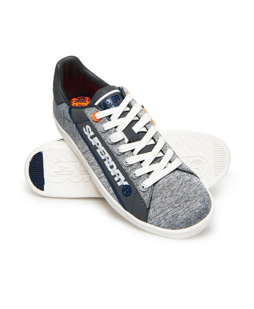 127aa7f0d45 Mens - Sleek Tennis Trainers in Grey Marl dark Charcoal navy