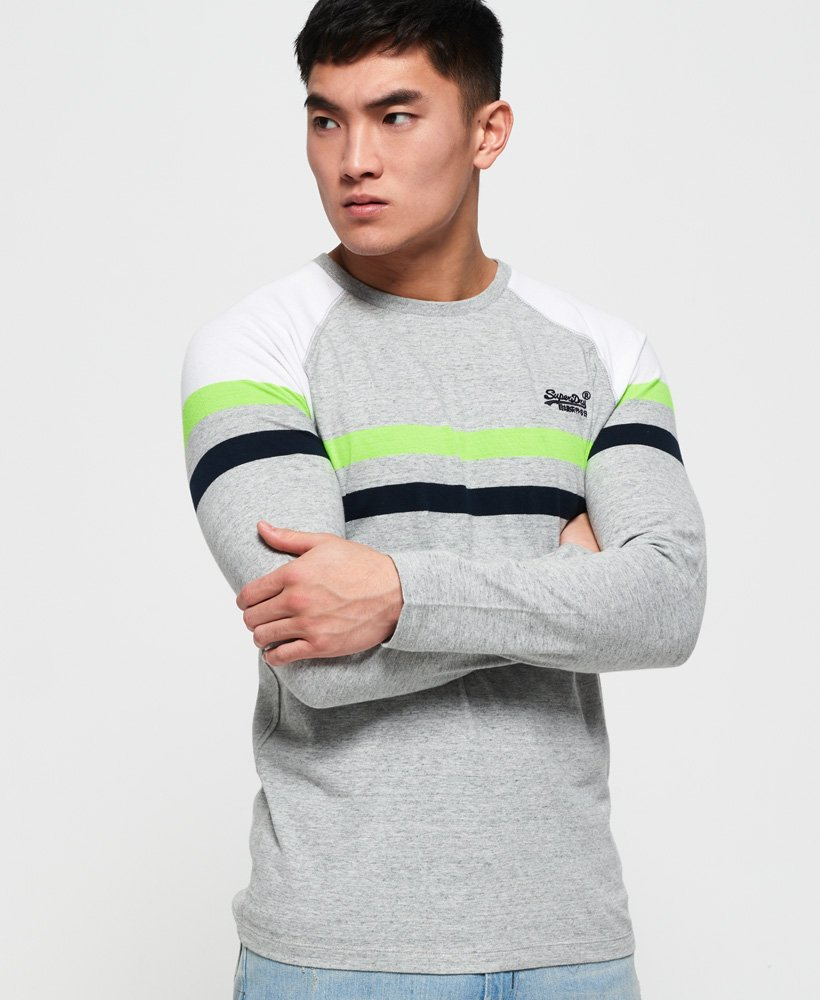 Superdry Orange Label Engineered Panel Long Sleeve T-Shirt