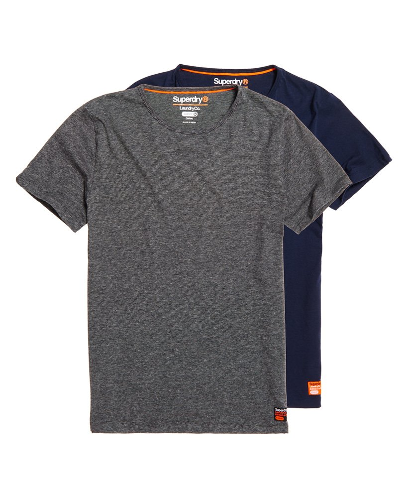 Superdry SD Laundry Organic Cotton Slim T-Shirt Double Pack