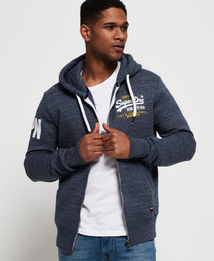 Superdry Premium Goods Duo Zip Hoodie thumbnail 1