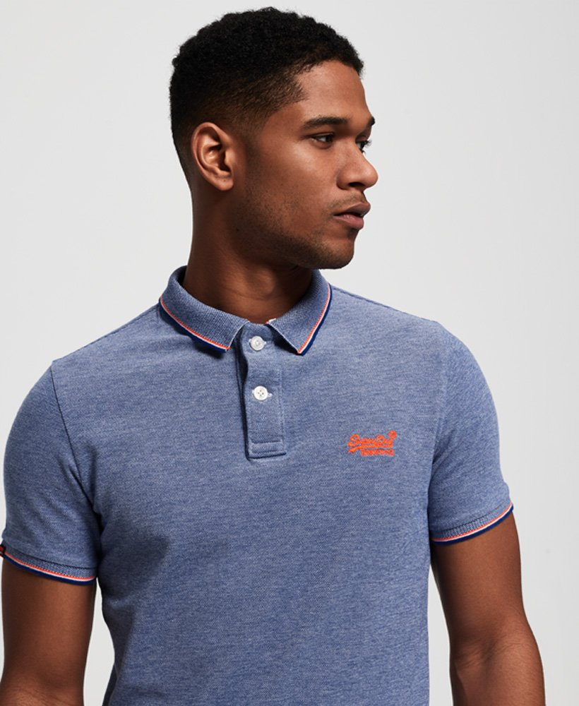 7a1ef4c6fca3 Mens - Classic Poolside Pique Polo Shirt in Cobalt/white | Superdry