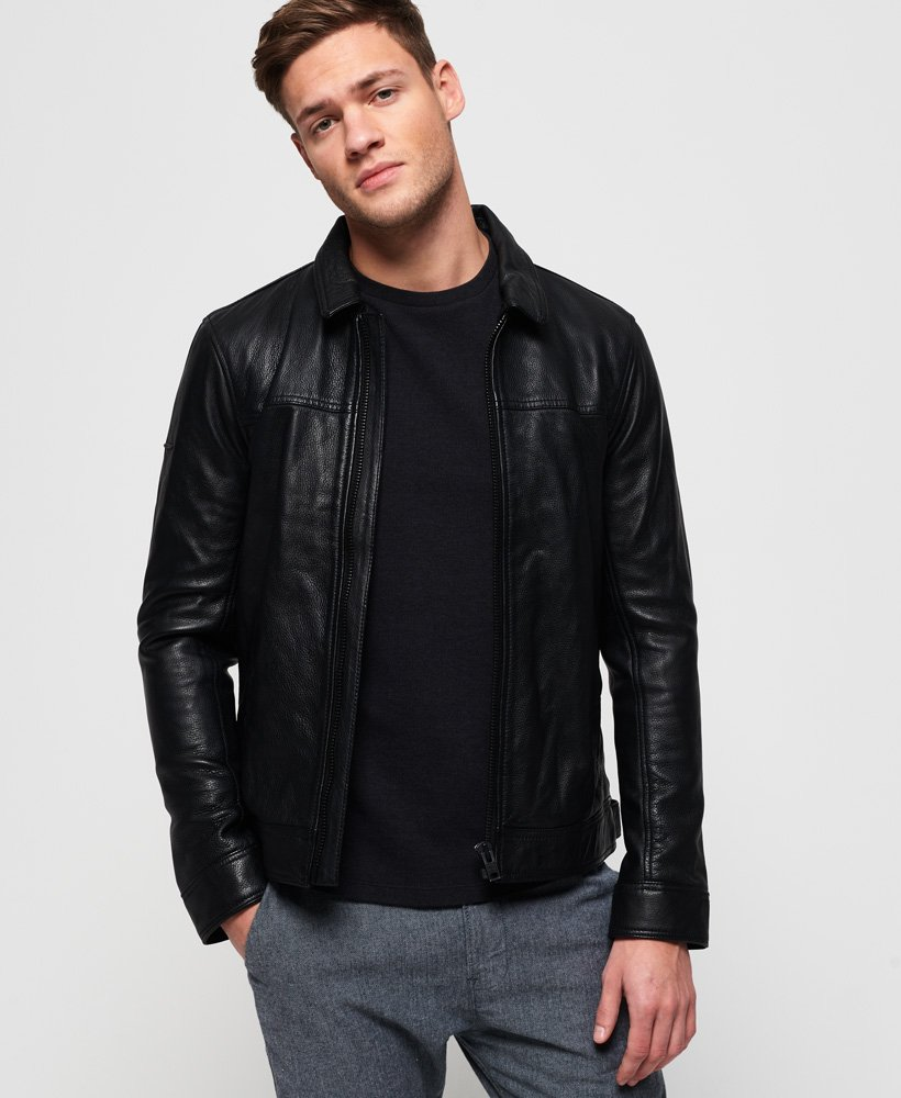 Superdry Curtis Leather Jacket thumbnail 1