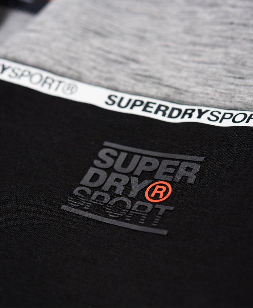 Superdry Herren Gym Tech Stretch-Trainingsoberteil Mit Farbblock-Design
