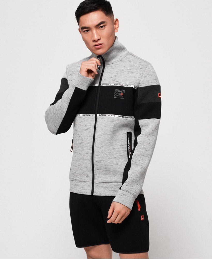 Superdry Gym Tech Stretch Blocked Track Top thumbnail 1