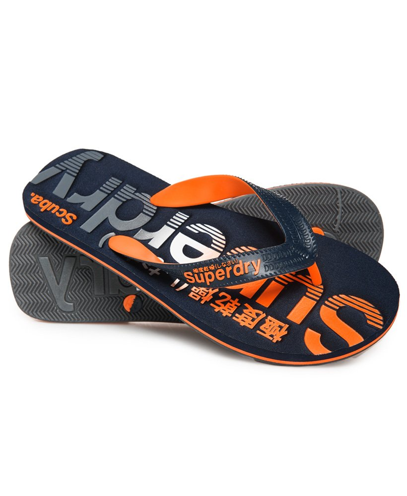 Superdry Scuba Faded Logo Flip Flops thumbnail 1