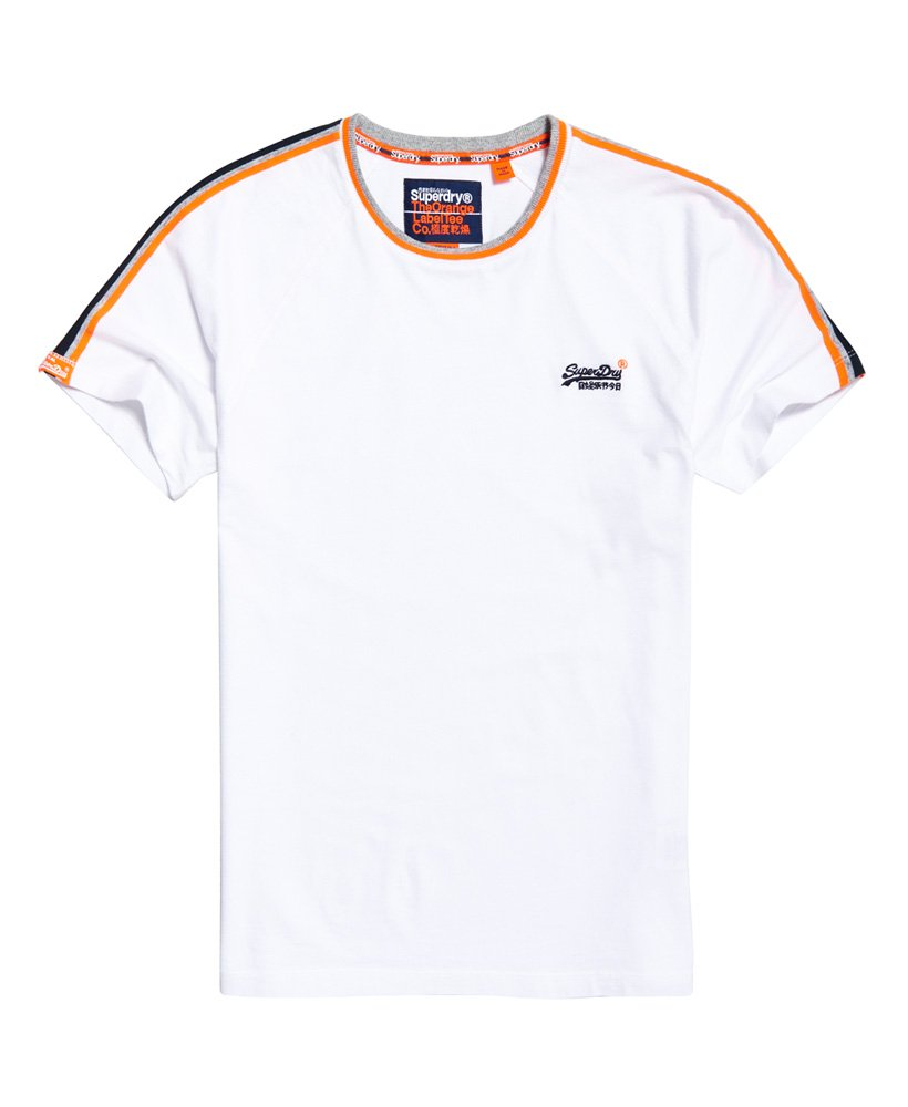 Superdry Orange Label Tipped Sports Stripe T-Shirt