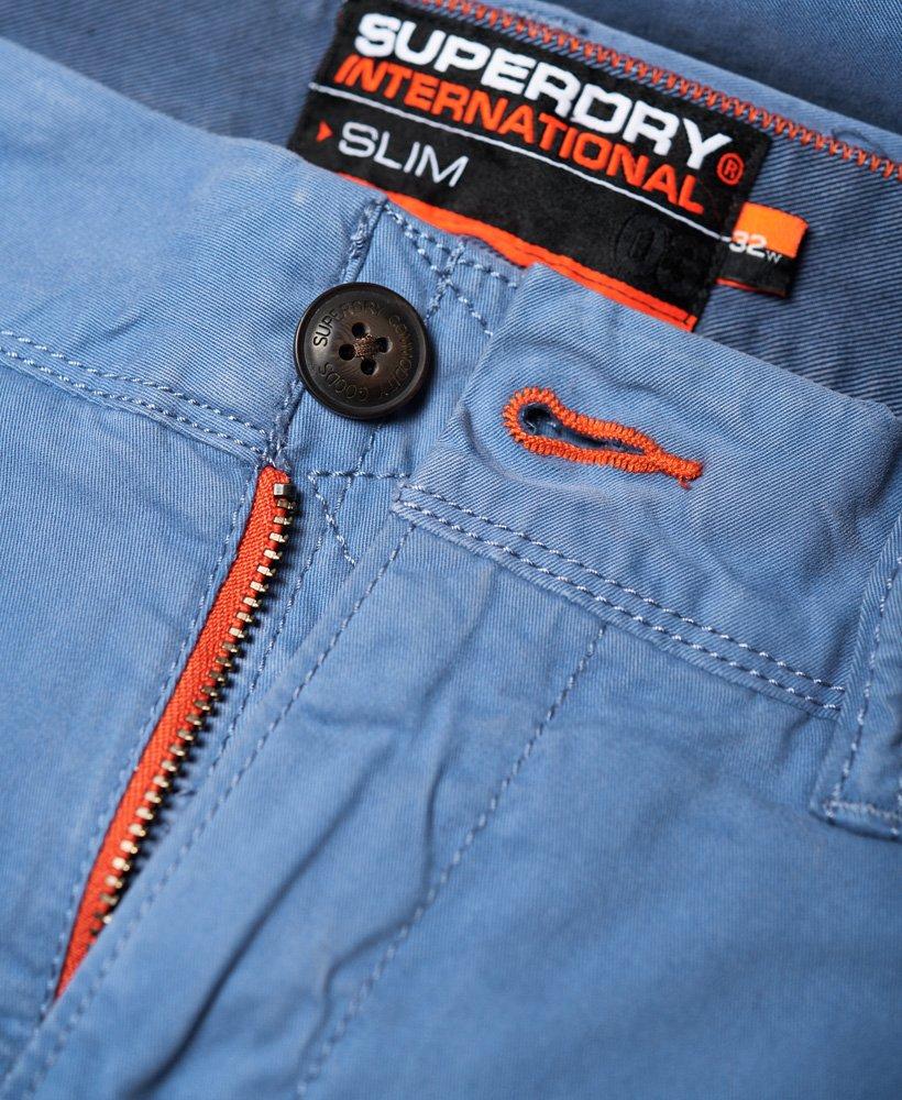 4b0914869e Mens - International Slim Chino Lite Shorts in Neptune Blue | Superdry