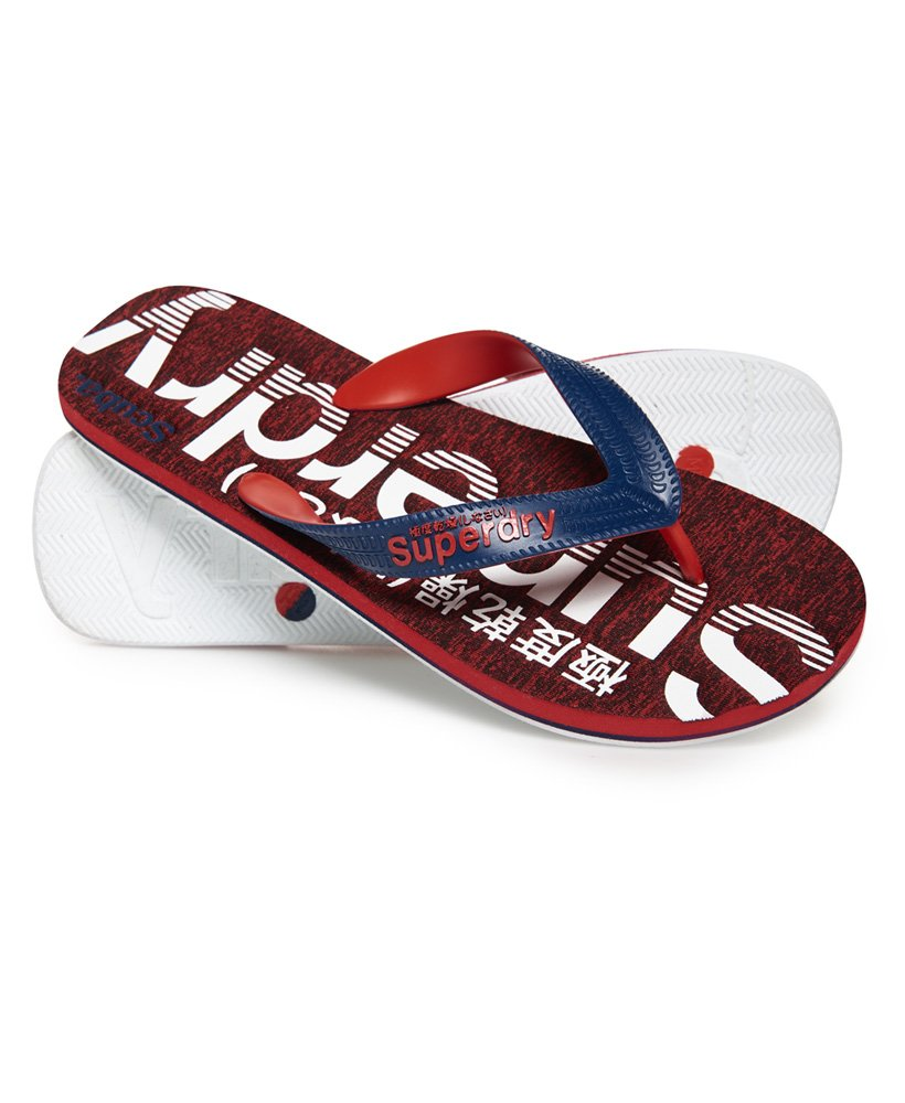 1df9c23c953f Mens - Scuba Grit Flip Flop in Blue Depths optic White red Grit ...