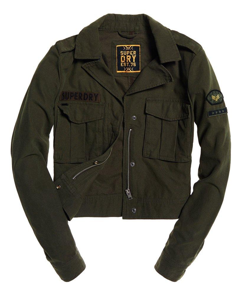 Superdry Kurz geschnittene Jacke im Military Stil Damen