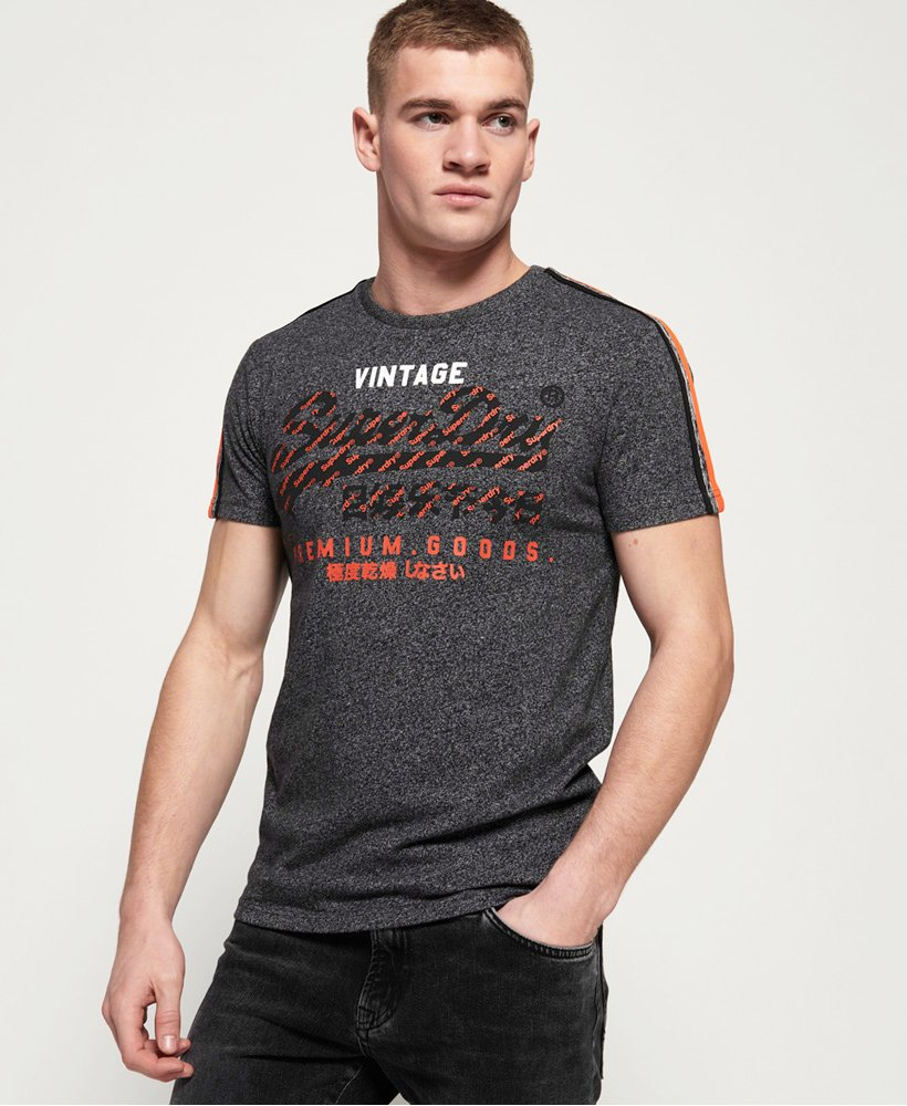 Superdry Premium Goods Racer Stripe T-Shirt  thumbnail 1