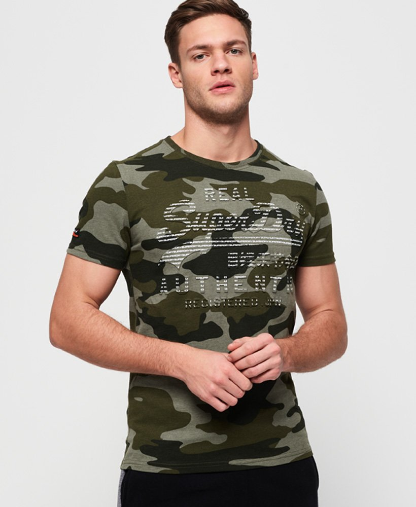 Superdry Vintage Logo Authentic Camo T-Shirt thumbnail 1