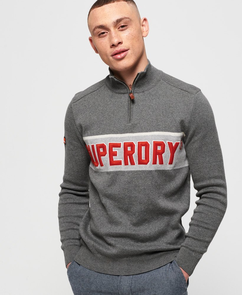 Superdry Tri Colour Henley Jumper