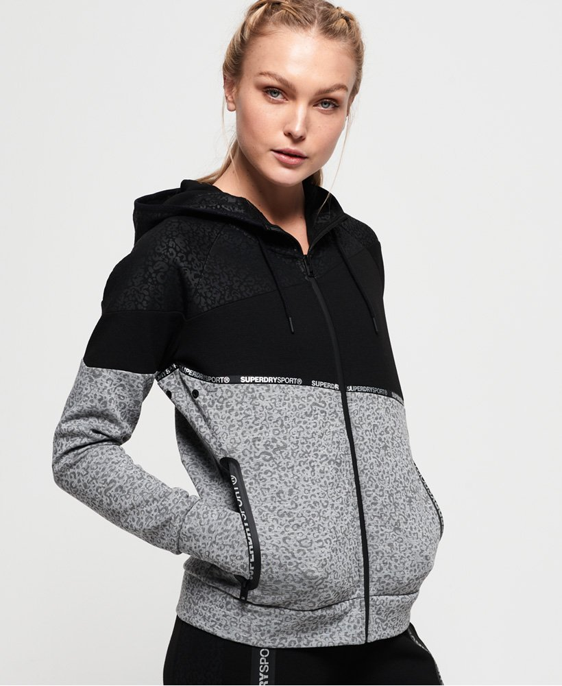 Superdry Core Gym Tech Splice Zip Hoodie