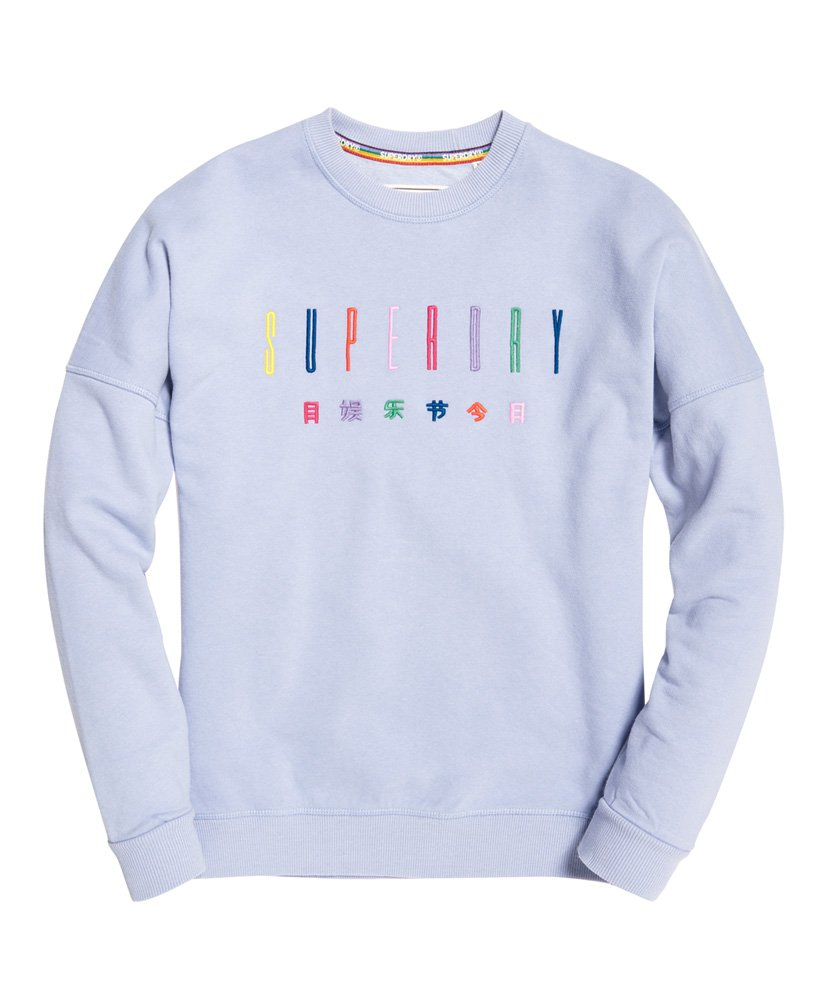 Superdry Womens Carly Carnival Embroidered Crew Sweatshirt