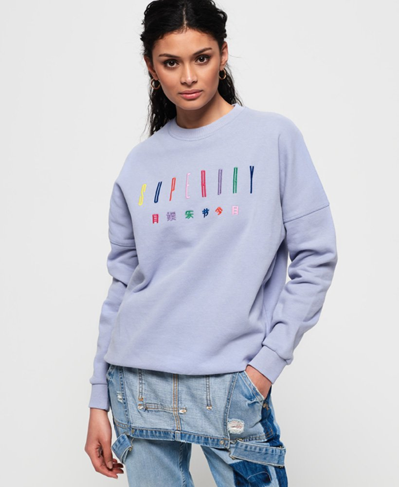 Superdry Carly Carnival Embroidered Crew Sweatshirt thumbnail 1
