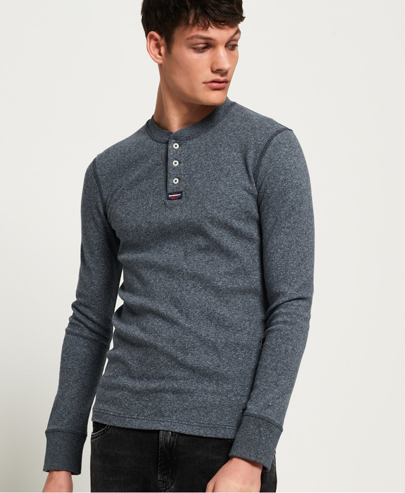 Superdry Heritage Long Sleeve Grandad Top thumbnail 1