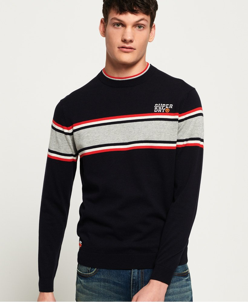 Superdry Parallel Stripe Crew Jumper thumbnail 1